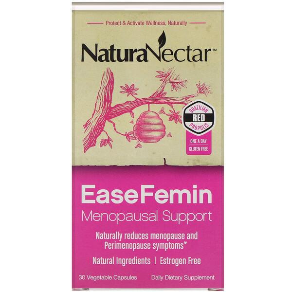 EaseFemin, поддержка при менопаузе, 30растительных капсул