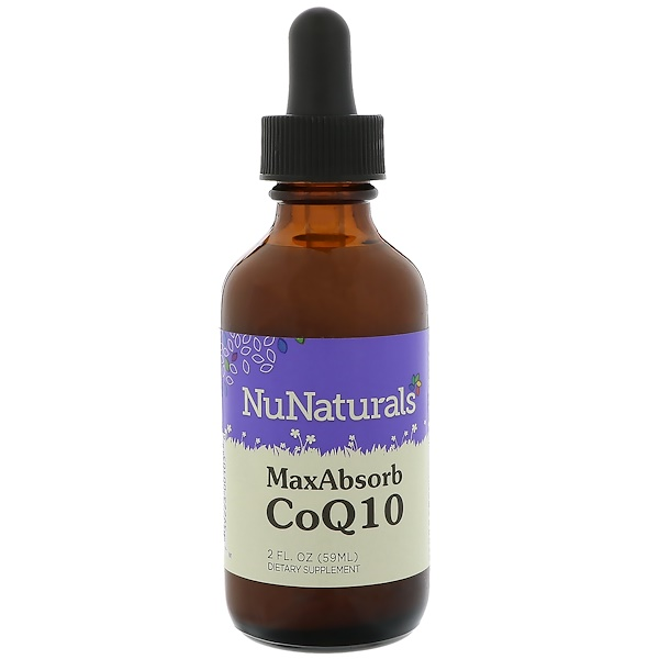 NuNaturals, CoQ10 максимальная абсорбция 2 жидких унции (59 мл) (Discontinued Item)
