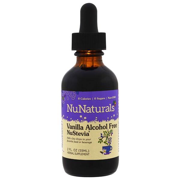 NuNaturals, NuStevia™, ванильная, безалкогольная стевия, 59 мл (2 жидких унции)