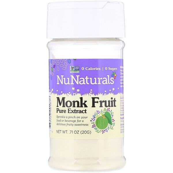 NuNaturals, Чистый экстракт плодов архата, 0,71 унций (20 г)