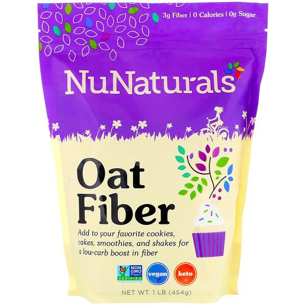 NuNaturals, Овсяное волокно, 454 г (1 фунт)