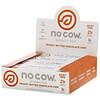No Cow, Протеиновый батончик, шоколадная крошка с арахисовой пастой, 12батончиков по 60г (2,12унции)