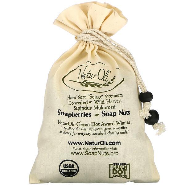 Organic, отобранные вручную мыльные орехи с 1 муслиновым мешочком с кулиской, 4 унции
