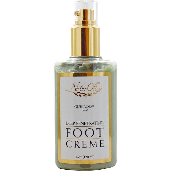 NaturOli, Deep Penetrating Foot Creme, Olivander Scent, 4 oz (120 ml) (Discontinued Item)