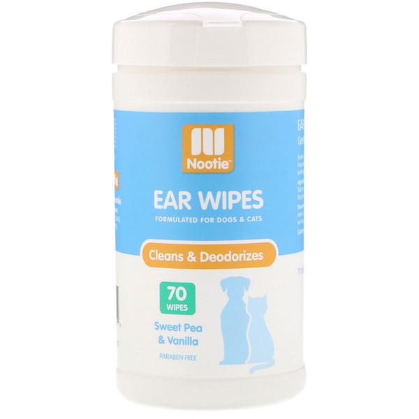 Nootie, Ear Wipes, Sweet Pea & Vanilla, 70 Wipes (Discontinued Item)