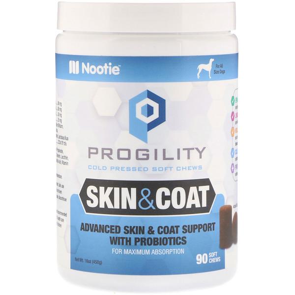 Nootie, Progility, для кожи и шерсти, для собак, 90 мягких жевательных конфет (Discontinued Item)