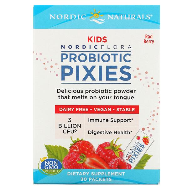 Нордическая флора, для детей, Эльфы с пробиотиками, Классные ягоды, 3 млрд КОЕ, 30 пакетов