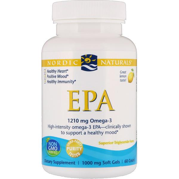 ЭПК, лимон, 1000 мг, 60 мягких таблеток