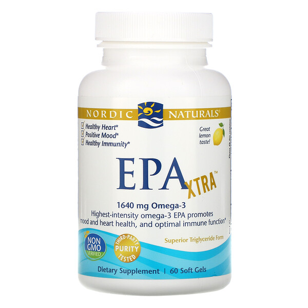 ЭПК Экстра, лимон, 1000 мг, 60 гелевых капсул