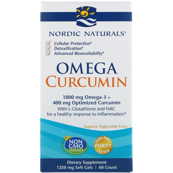 Омега куркумин, 1250 мг, 60 мягких желатиновых капсул