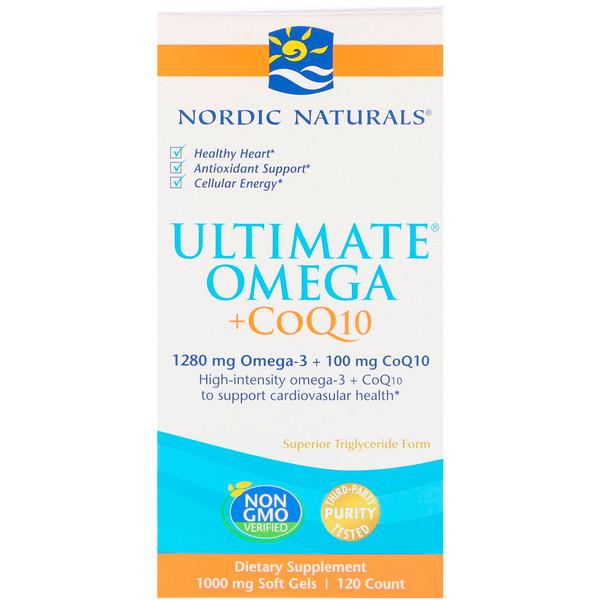 Ultimate Omega + CoQ10, 1000мг, 120 мягких желатиновых капсул
