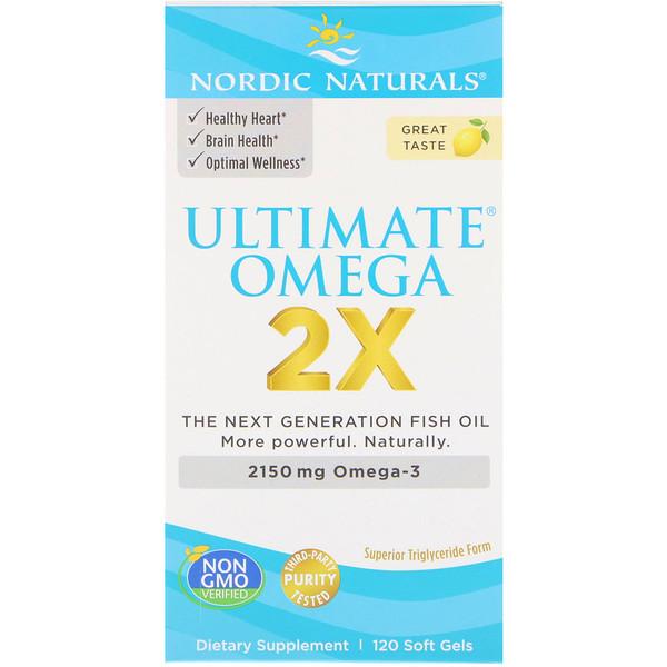 Ultimate Omega 2X, 2150мг, 120мягких желатиновых капсул