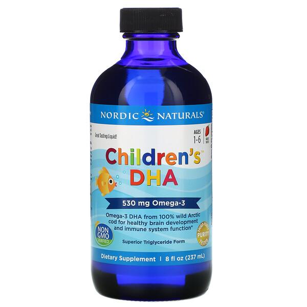 Children's, ДГК для детей, со вкусом клубники, для детей 1–6 лет, 530мг, 237мл (8жидк. унций)