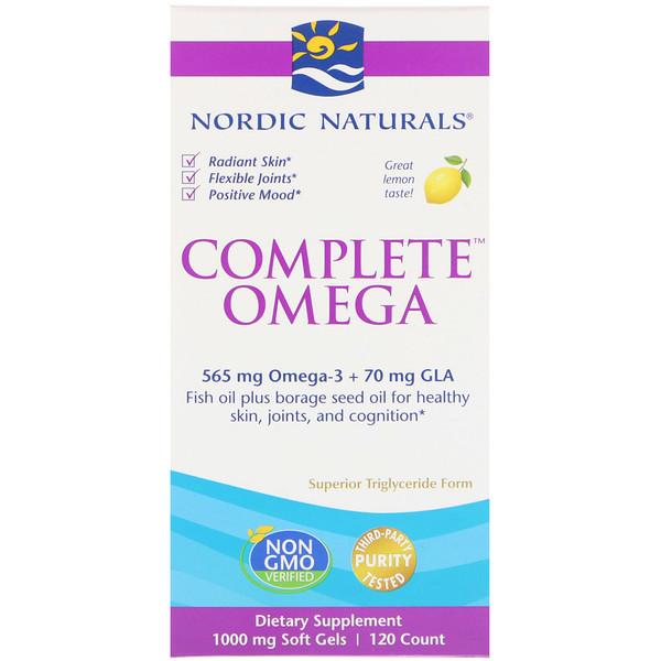Омега-комплекс, лимон, 1000 мг, 120 желатиновых капсул