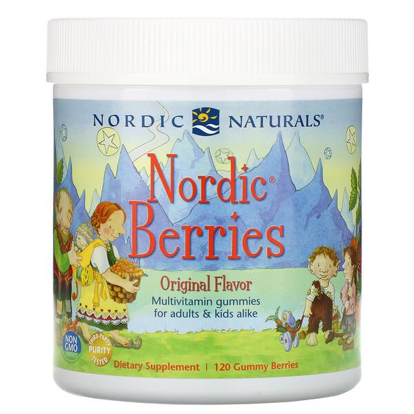 Nordic Berries, мультивитаминные жевательные конфеты, оригинальный вкус, 120 ягод-жевательных конфет
