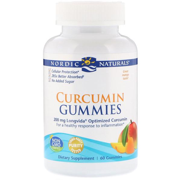 Жевательные таблетки куркумин, манго, 200 мг, 60 жевательных таблеток