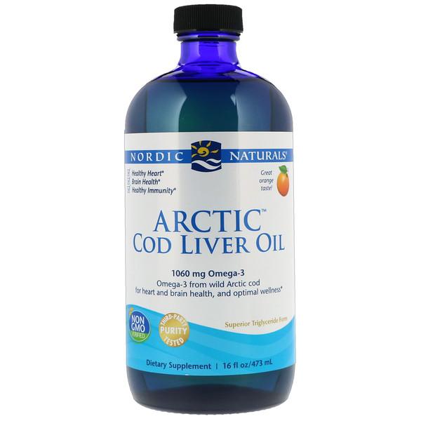 Arctic, жир печени арктической трески, со вкусом апельсина, 437 мл (16 жидких унций)