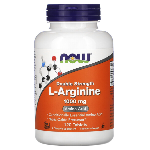 L-аргинин, двойная концентрация, 1000мг, 120таблеток