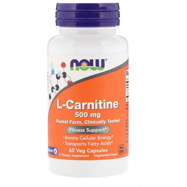 L-карнитин, 500 мг, 60 растительных капсул