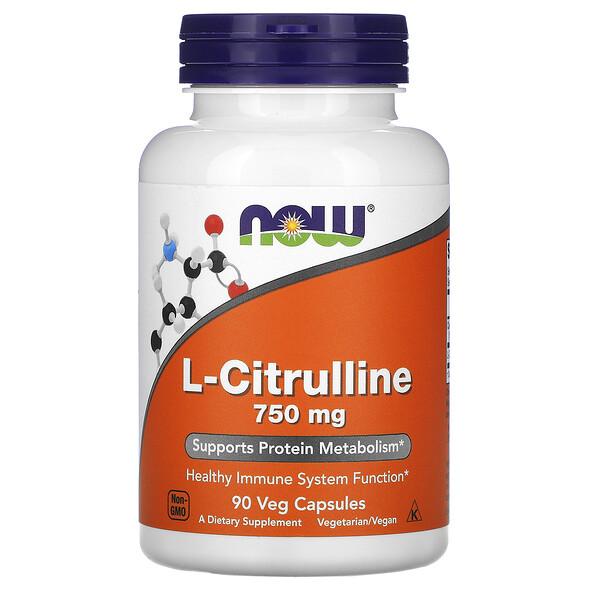 L-цитруллин, 750 мг, 90 растительных капсул