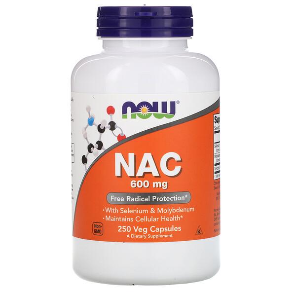NAC, 600 мг, 250 растительных капсул