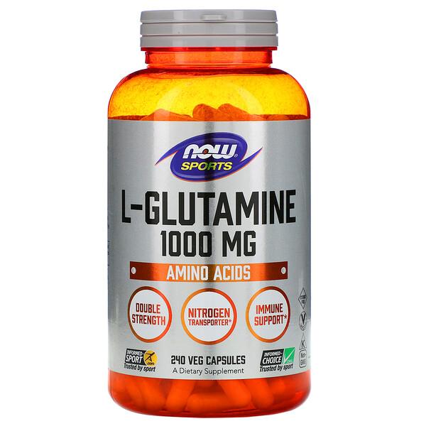 Now Foods, Спортивная серия, L-глутамин, 1000 мг, 240 капсул