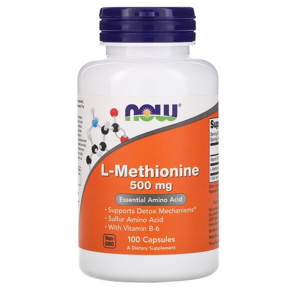 L-метионин, 500 мг, 100 капсул
