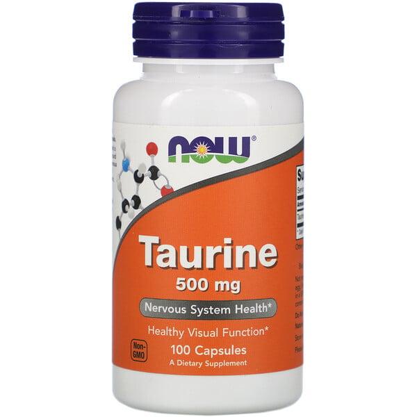Now Foods, Таурин, 500 мг, 100 капсул