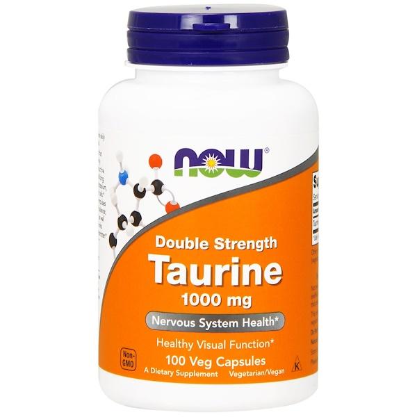 Таурин, двойной концентрации, 1000 мг, 100 растительных капсул