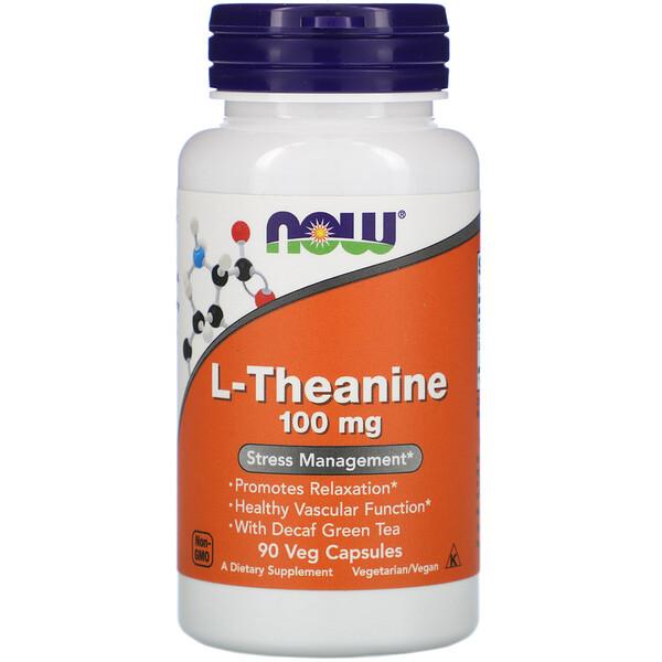 L-теанин, 100 мг, 90 растительных капсул