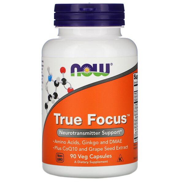 Now Foods, True Focus, 90 растительных капсул