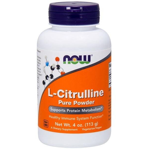 L-цитруллин, чистый порошок, 4 унции (113 г)