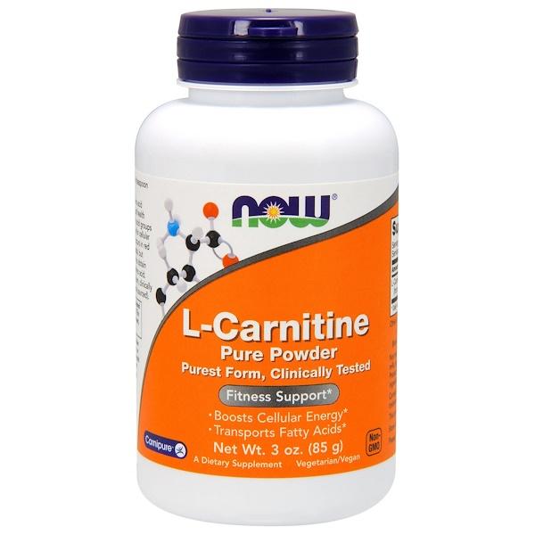 L-карнитин, чистый порошок, 85 г (3 унции)
