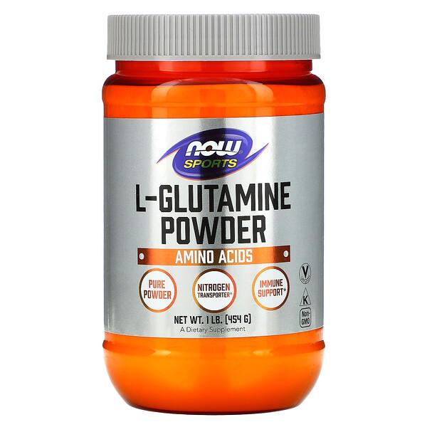 Спорт, L-глютамин в виде порошка, 454г (1фунт)