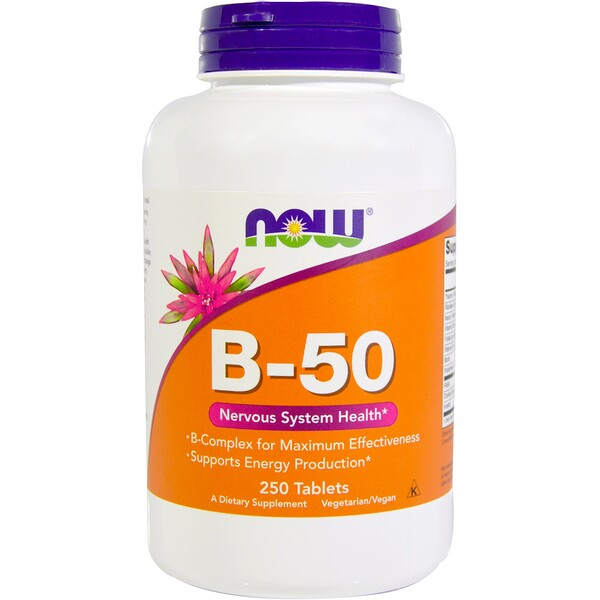 Now Foods, B-50, 250 таблеток