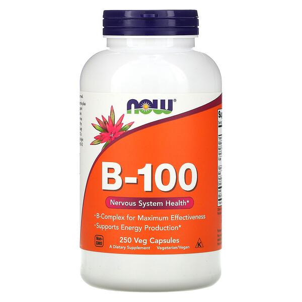 Now Foods, B-100, 250 капсул в растительной оболочке