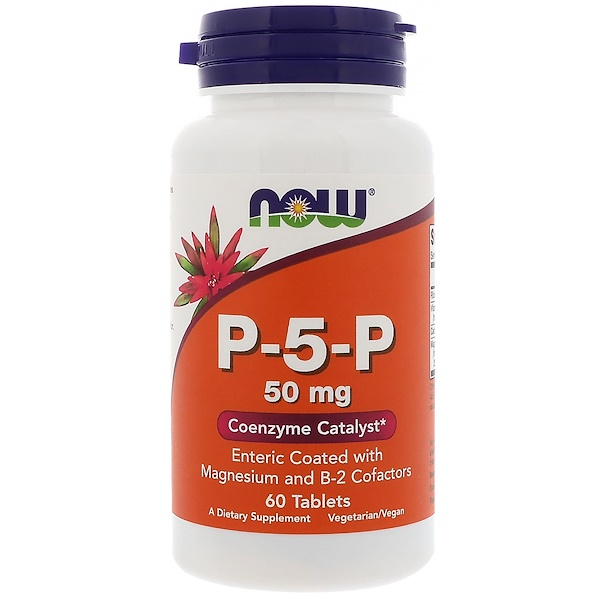 Now Foods, Пиридоксальфосфат, 50 мг, 60 таблеток (Discontinued Item)