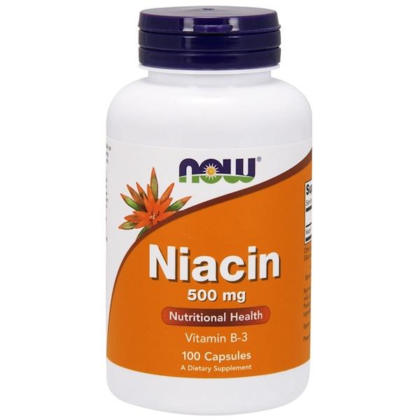 Ниацин, 500 мг, 100 капсул