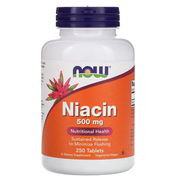 Ниацин, 500 мг, 250 таблеток