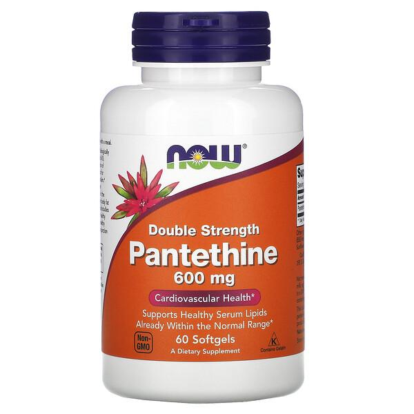 пантетин, двойная сила, 600 мг, 60 мягких желатиновых капсул
