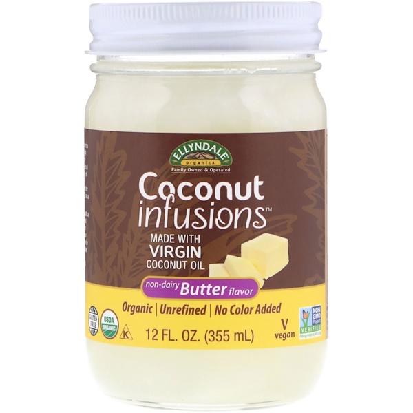 Now Foods, Ellyndale Naturals, Coconut Infusions, безлактозный ароматизатор масла, 355мл (12жидк.унций)