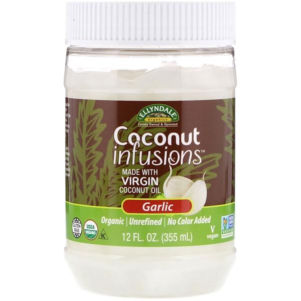 Ellyndale Naturals, кокосовые инъекции, вкус чеснока, 355 мл