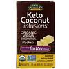 Now Foods, Ellyndale Naturals, Keto Coconut Infusions, безлактозный ароматизатор масла, 3пакетика, 15мл (0,5жидк.унции) каждый