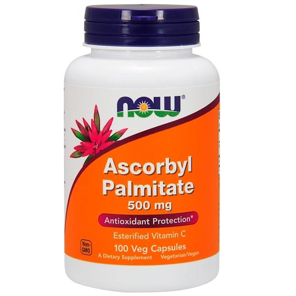 Аскорбил пальмитат, 500 мг, 100 растительных капсул