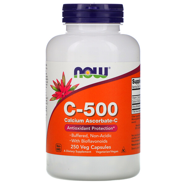 C-500, Аскорбат кальция-C, 250 капсул