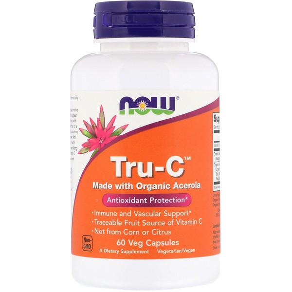 Now Foods, Tru-C, 60 вегакапсул