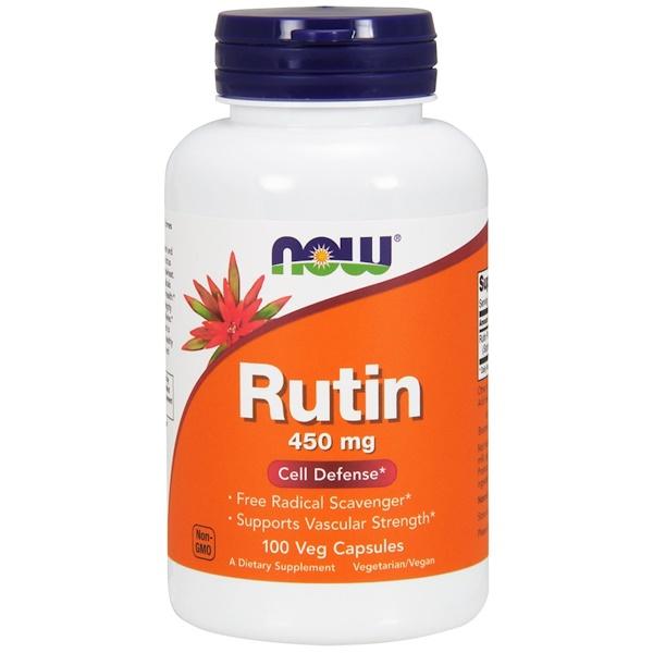 рутин, 450 мг, 100 растительных капсул