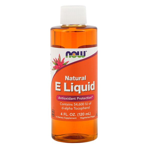 Натуральный жидкий витамин E, 4 ж. унц. (120 мл)