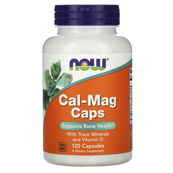 Now Foods, Cal-Mag Caps with Trace Minerals and Vitamin D, 120 Capsules