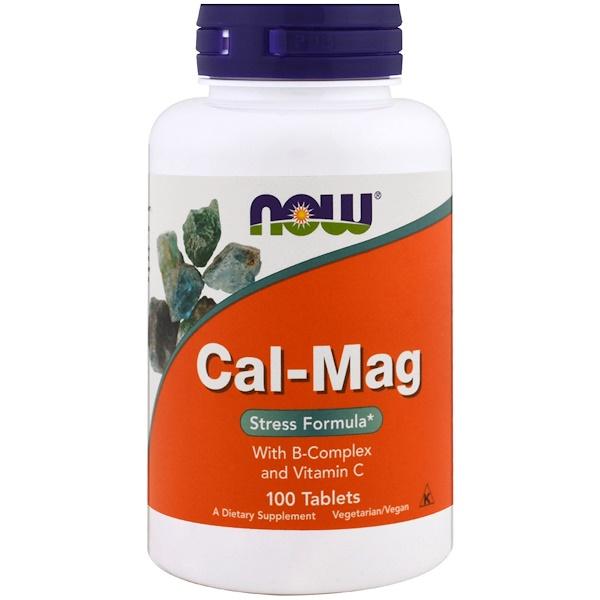 Now Foods, Cal-Mag, Stress Formula, 100 таблеток